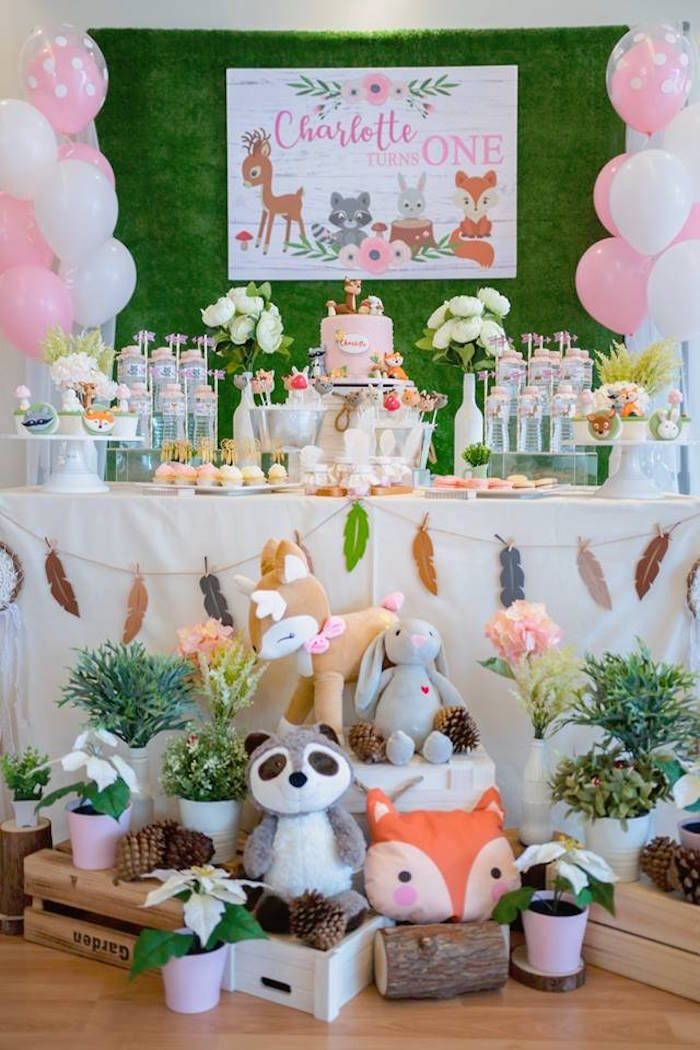 Girly Rustic Woodland Birthday Party