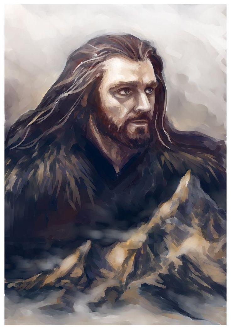 #FanArt - #Thorin by Ka-ren at http://ka-ren.deviantart.com/art/Thorin-484867203 … #OneLastTime #Hobbit #BOFA #LOTR #ElHobbit
