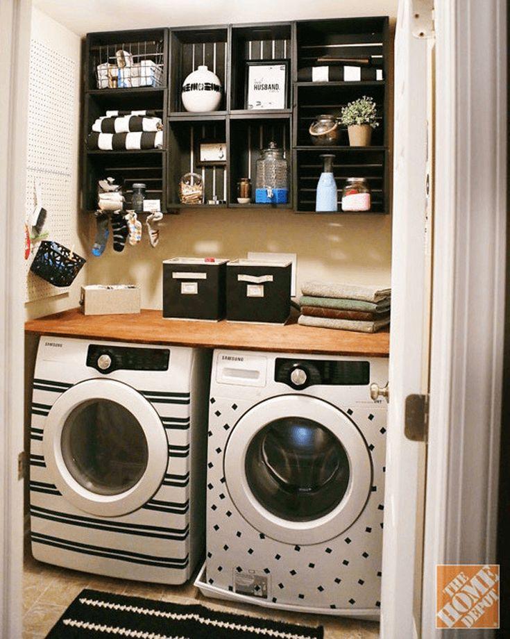 16 brillante Ideen, die Lust auf all die Holzkisten machen · Eine gute …   – Laundry room