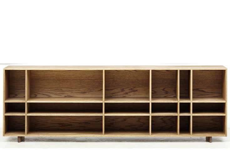 Bibliothèque Kilt Open basse 137/180cm Hauteur 60cm Rune, Claesson Koivisto…
