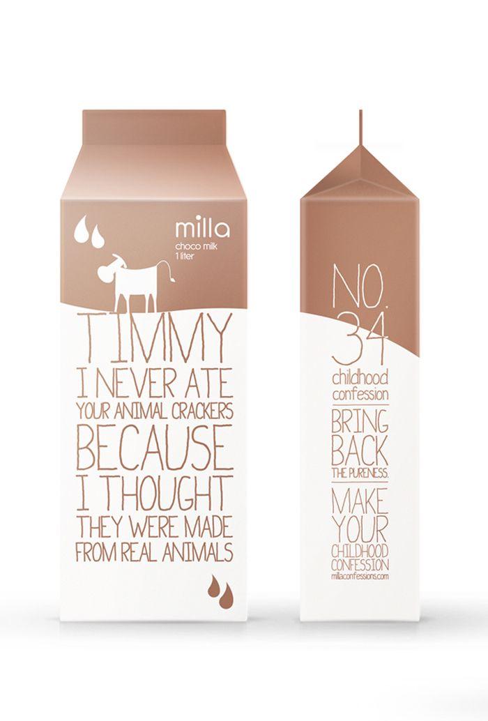 #milk #packaging Sí, los bricks de leche habitualmente carecen cosas tales como una buena comunicación, una atracción, una diferenciación, una identidad... Este no!!!