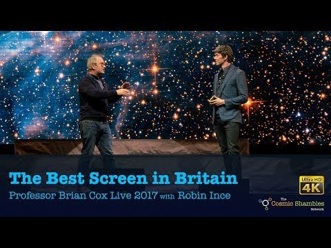 The Best Screen in Britain - Professor Brian Cox Live 2017 with Robin Ince - YouTube
