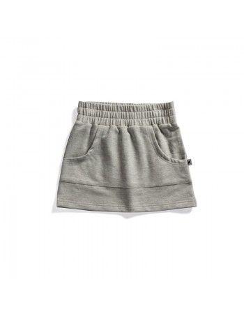 Minti | Zippy Skirt - Grey Marle