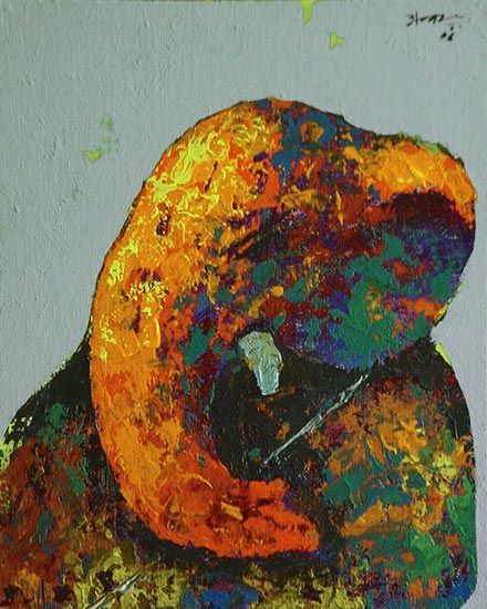 Ganesha Paintings series by Husain | Acrylic on Canvas Board Painting