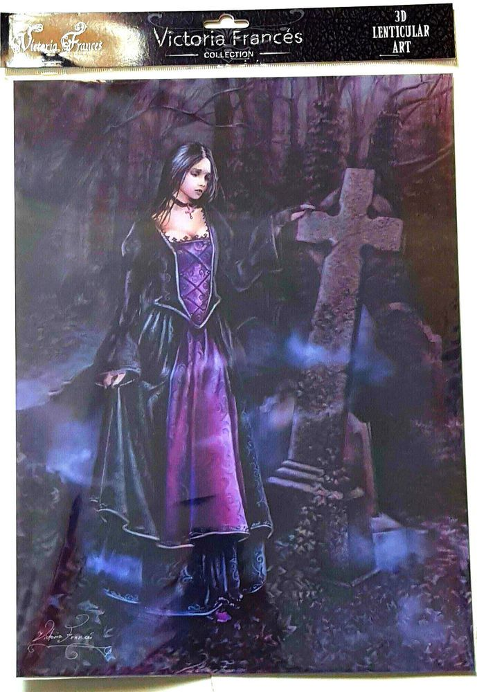 Brand New Licensed 3D Lenticular Victoria Frances Lady Of The Grave Gothic Art