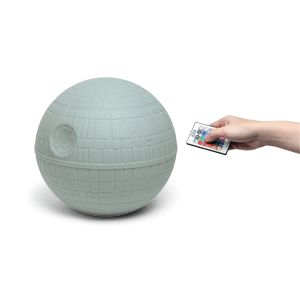 Death Star Mood Usb Powered Light It measures 18cm diameter and has a push down on/off function. The Usb micro cable included.