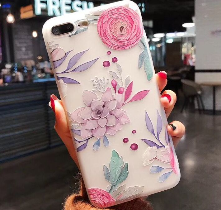 iPhone X, 8 Plus/8, 7 Plus/7, 6S Plus/6S - Colorful Graphics on Frosted Case in Assorted Colors