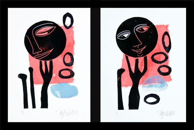 Buy Be my Valentine, set of 2 linocuts chine colle, Monoprint by Mariann Johansen-Ellis on Artfinder. Discover thousands of other original paintings, prints, sculptures and photography from independent artists.