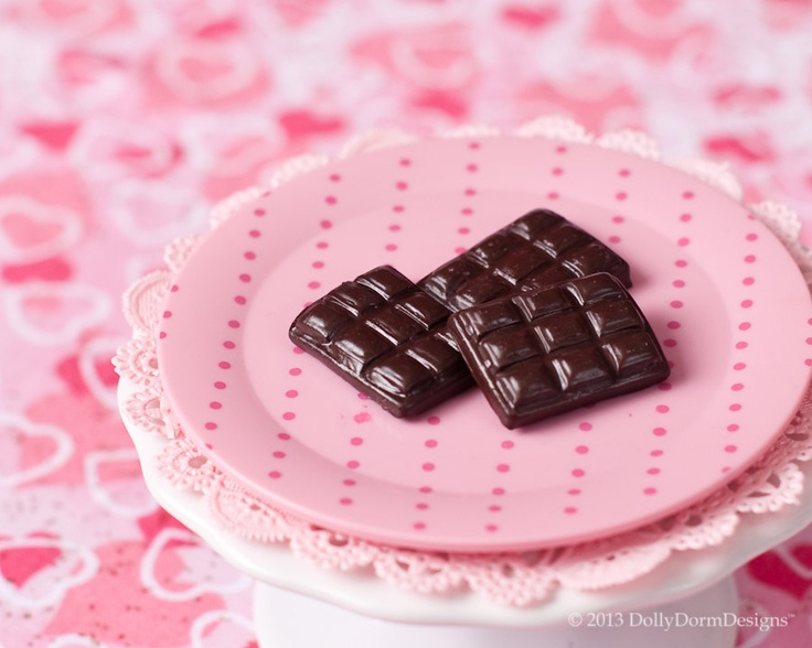 Valentine's Day Candy Bars Dark Chocolate American Girl Doll Food. $6.00, via Etsy.