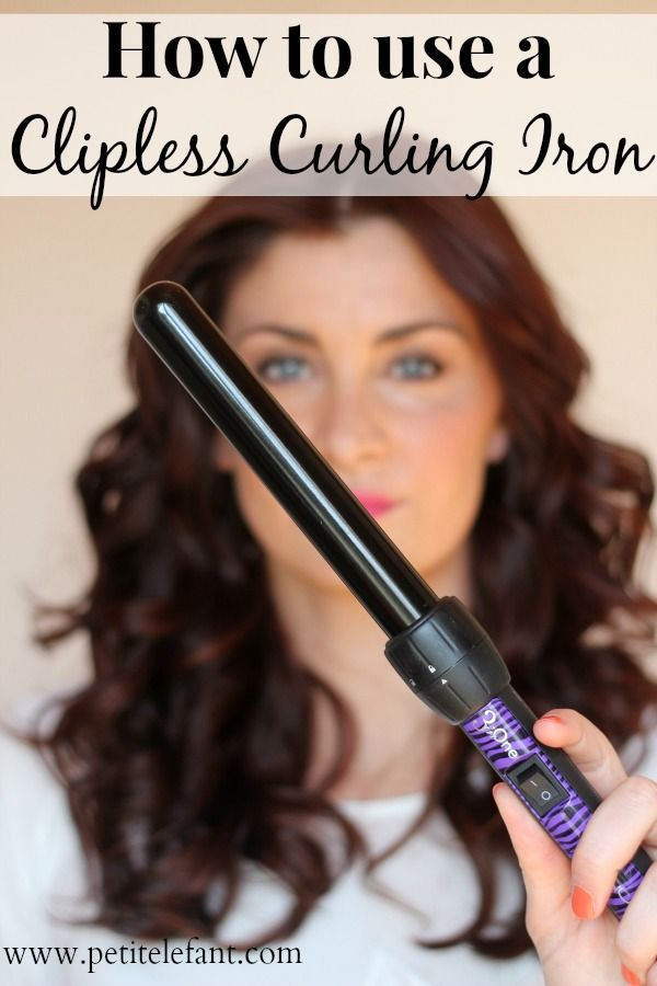Tips on using a curling wand or clipless curling iron for perfect, bouncy, beautiful curls.