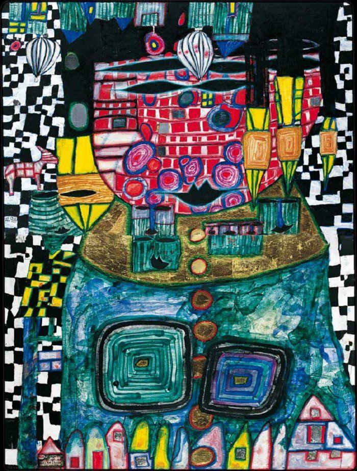 Friedensreich Hundertwasser | Antipode King, 1991
