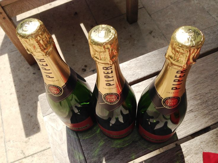 Piper-Heidsieck Cuvée Brut, in the summer sun