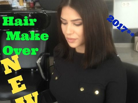 2017 Hair Make over .Long Hair to short TIPS by Top Stylist Amal Hermuz Hair TV Vivyan Hair Design