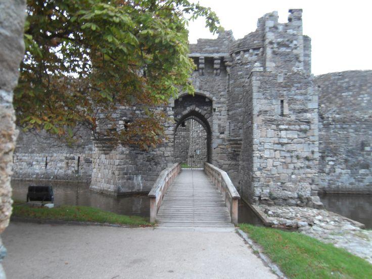 This photograph is of Beaumaris Castle taken at Beaumaris.