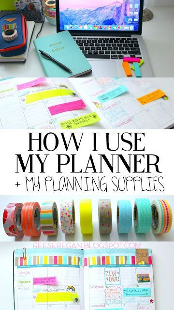 How I Use My Planner + Supplies! Clickety click the picture to find out :-) (http://reeseregan.blogspot.com)