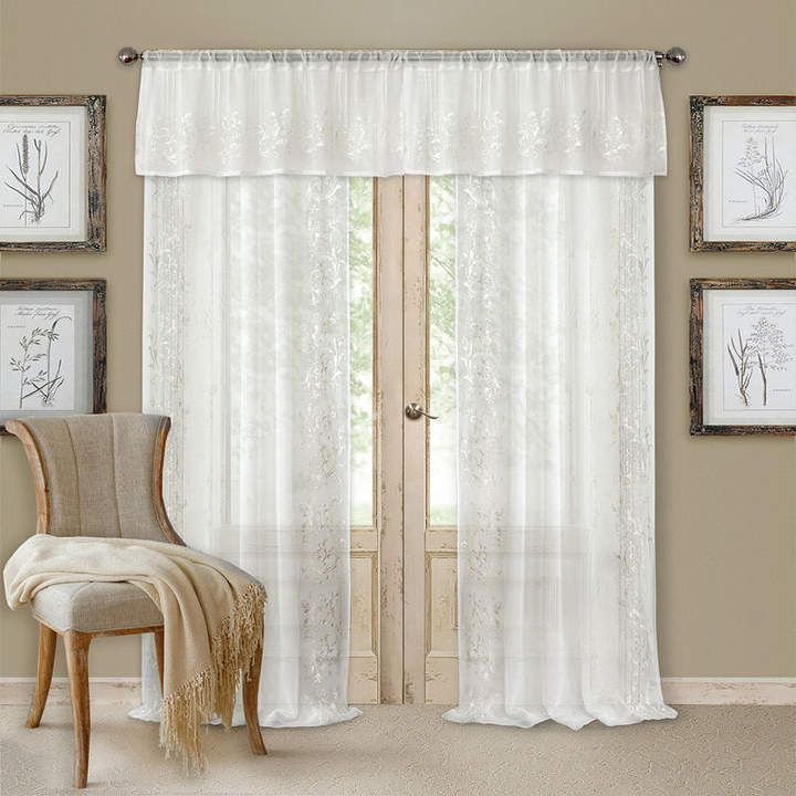 This Clean Look Does It For Me I Enjoy A White Clean Well Organized Room Like This Even If The Rest Of Elrene Home Fashions Drapes Curtains Panel Curtains
