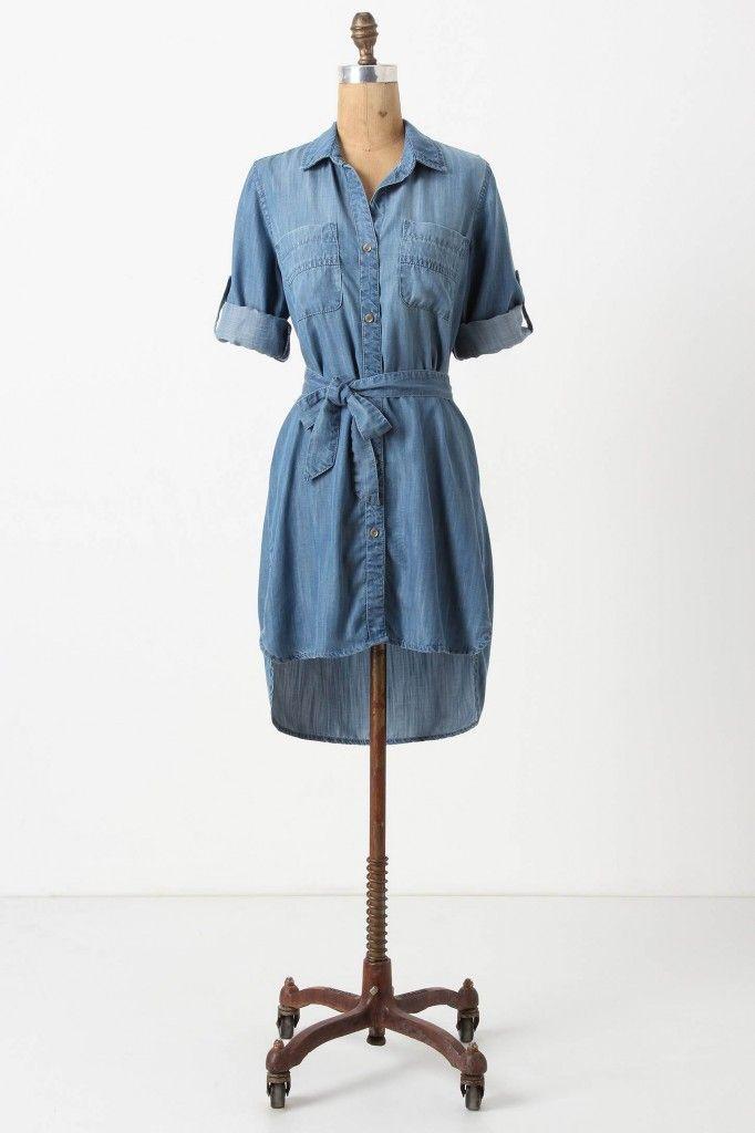 """True blue, indigo chic"" by Aliology { Fremont Shirtdress by Bella Dahl }"