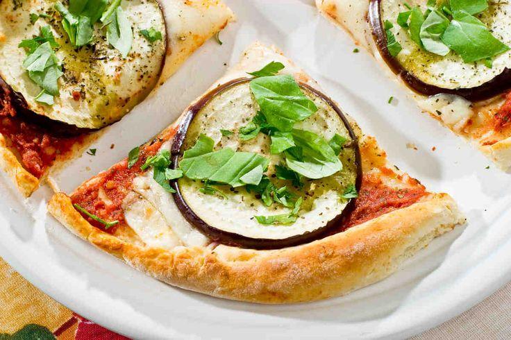 Pizza z bakłażanem #smacznastrona #przepisytesco #bakłażan #pizza #food #mniam