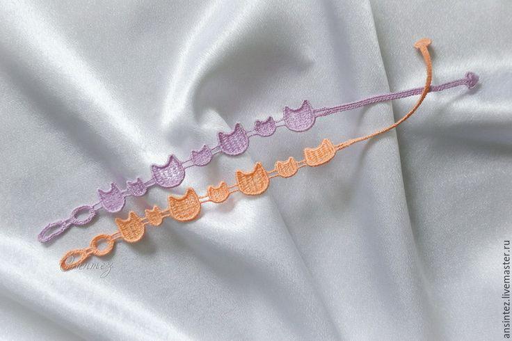 Купить Браслеты вышитые Кошечки набор кружевных браслетов FSL - вышитый браслет, набор браслетов
