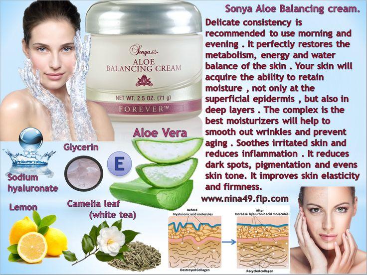 Sonya Aloe Balancing Cream order at www.nina49.flp.com