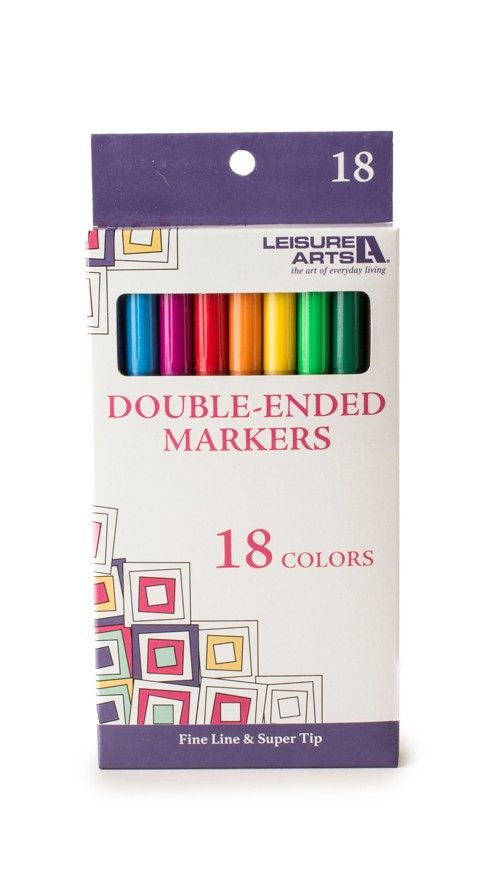 18 Pack Double Ended Markers