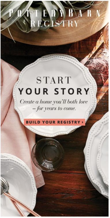 Use Pottery Barns Wedding Registry Bridal To Create A Gift With Ease Or Quickly Update And Manage Your Current