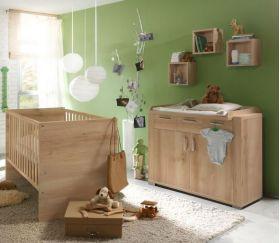"""ΒΡΕΦΙΚΑ ΕΠΙΠΛΑ :: Βρεφικά δωμάτια :: Mausbacher σετ κούνια & συρταριέρα """"ziggo"""""""