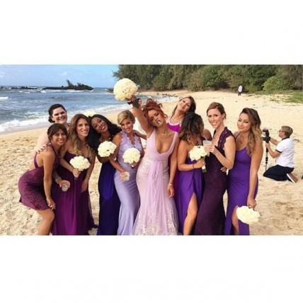 15 Celebrity Bridesmaids & the Dresses They Wore Down the Aisle - Rihanna from #InStyle