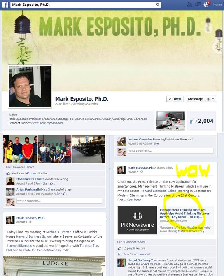 WOW - Harvard Professor and author of many great business books promotes our app in his facebook fanpage to his over 2000 followers - thanks Prof.