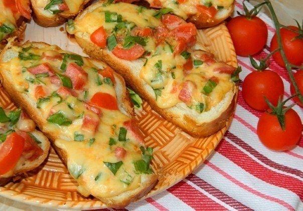 Фото к рецепту: Горячие бутерброды