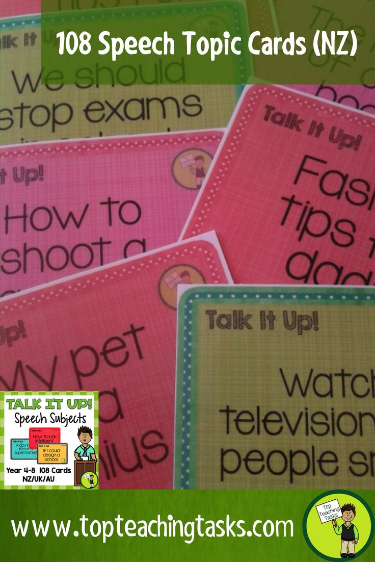 These 108 Speech topics make great formal/prepared and impromptu speeches. Self assessment rubrics and teacher assessment rubrics are included. Three genre are included: Persuasive, Informative and Entertaining. This is suitable for Year three, Year Four, Year Five, Year Six, Year Seven, Year Eight NZ/UK/Australia classrooms.