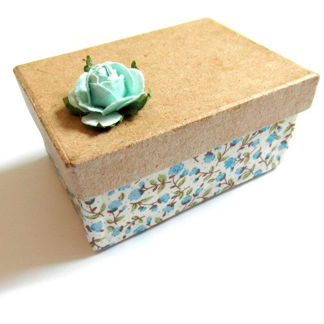 Small Floral Box - Decorative, Gift Wrap or Trinket Box  £3.50