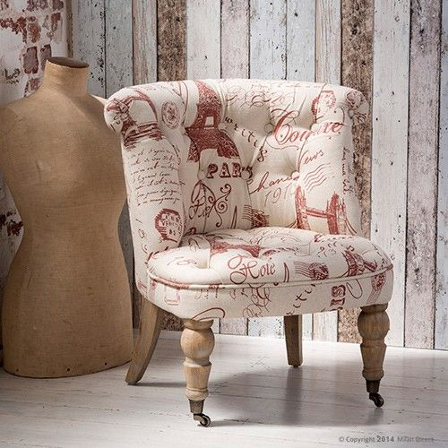 Provence Lounge Chair - Script - French Provincial Furniture