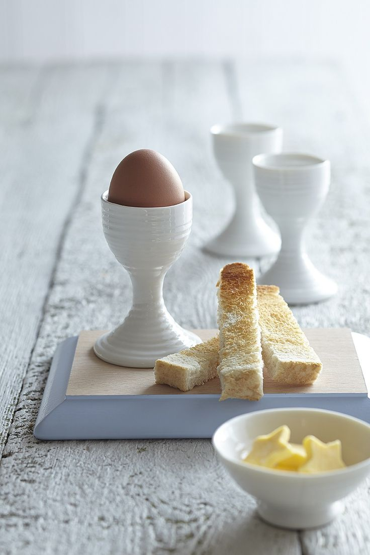 White Ceramic Egg Cups, Set of Two: from £13.50 http://www.sophieconran.com/china/white-china-egg-cups-set-of-two