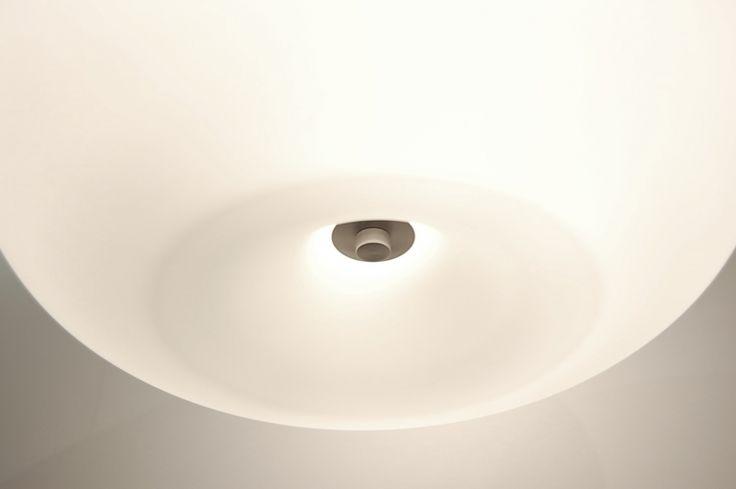 Hanglamp 70598: Modern, Eigentijds Klassiek, Wit, Mat
