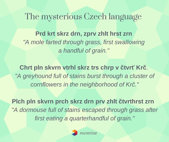 The mysterious Czech language