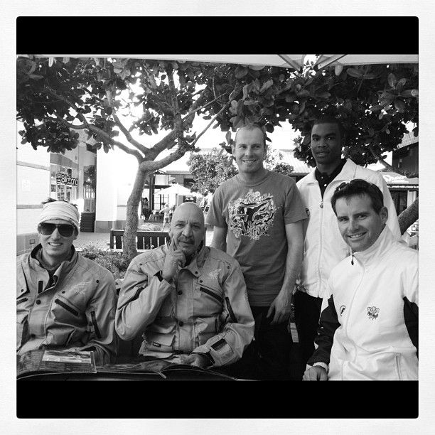 """Daemon Mclunan, Bushy Mckelvey, and Hylton Smith of the Out On A Limb crew, and Brendan Louw and Garry Hampson of South Western Districts cricket! - @ Mugg and Bean, Garden Route Mall, George"" - My #Instagram June 4, 2012"