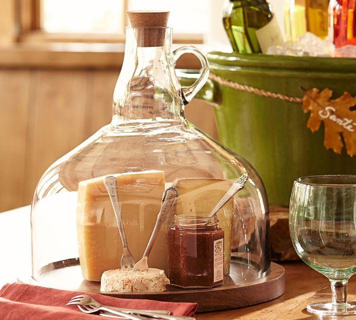 wine bottle jug cloche cheese platter diy cutting wine. Black Bedroom Furniture Sets. Home Design Ideas