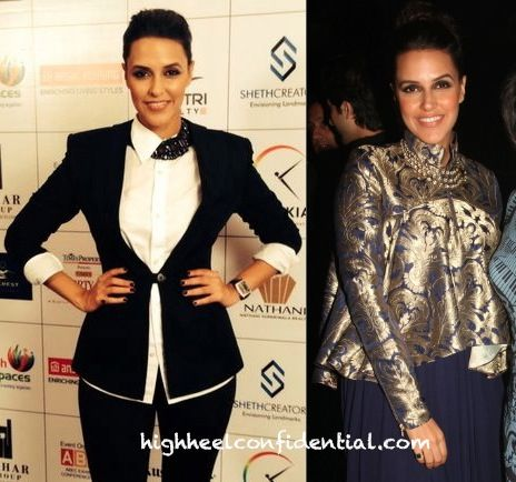 Neha Dhupia In DRVV (Times Property Expo Event) And Shantanu And Nikhil (At The…