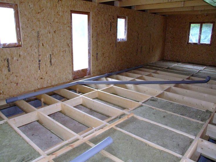pose du rseau des eaux uses dans vide sanitaire autoconstruction maison en ossature bois - Maison En Bois Autoconstruction