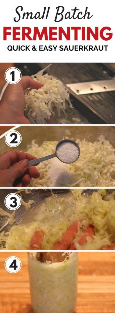 Quick & easy tips for making fermented foods like sauerkraut... looks so easy!