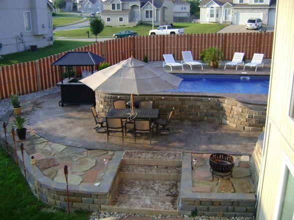 Semi above ground pool pretty yards pinterest - Semi above ground pool ideas ...