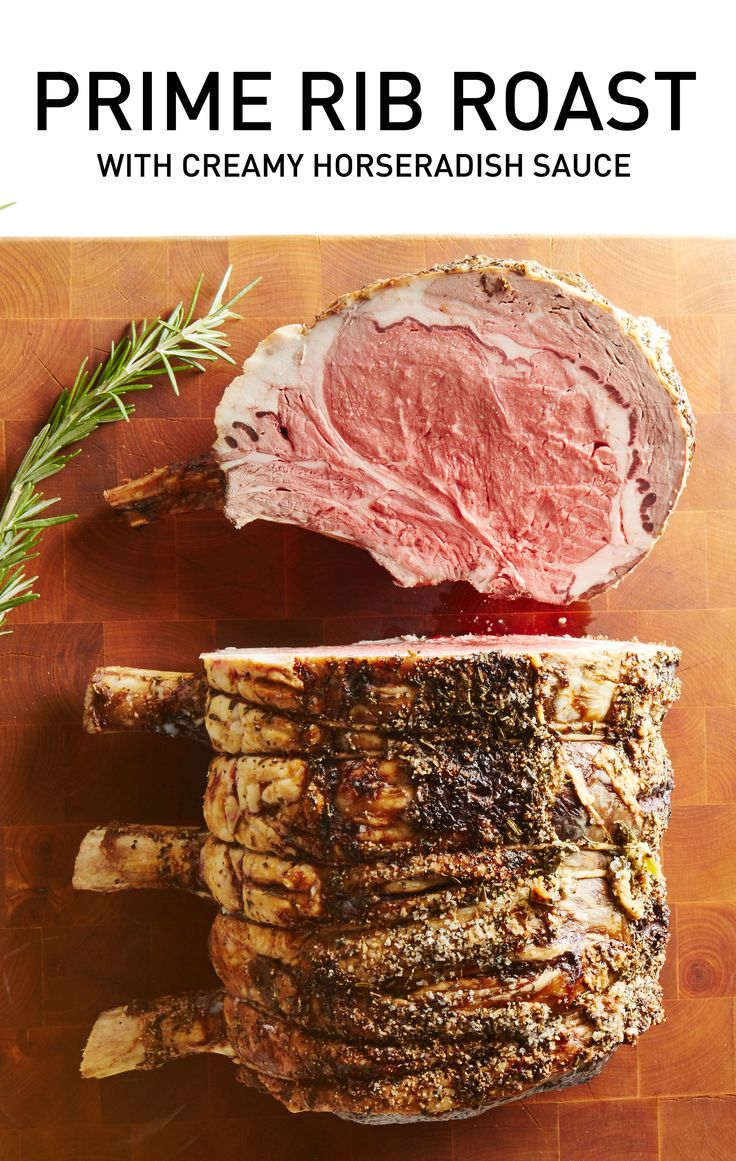 Ideal for a celebratory meal (or just because it's Sunday), this beautiful cut of meat, rubbed with garlic, rosemary and thyme, is roasted until perfectly pink inside and browned outside. #BiteMeMore #recipes