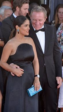 Salma Hayek, actress and spouse Francois-Henri Pinault in 2012 at the Deauville American Film Festival. (source:  Wikipedia, the free encyclopedia)