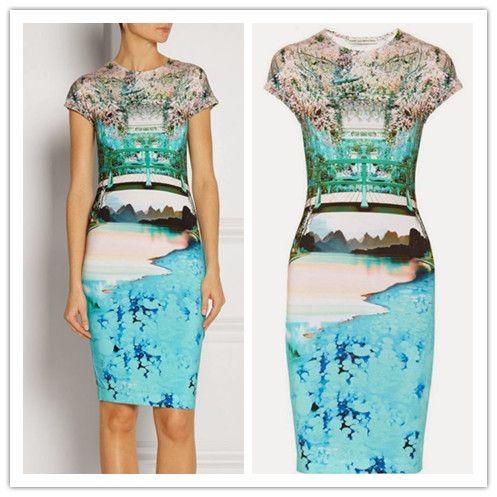 2014 New Style Short Sleeve Stretch Tube Dress Women Pencil Dresses
