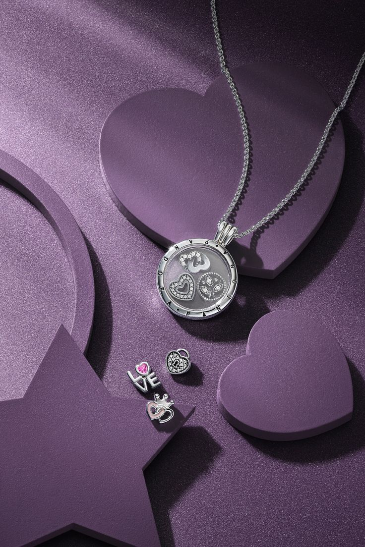 cz jewelry pendant of clear hearts us en pandora necklace lockets
