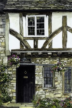 Tudor House Castle Combe by Ann March, Ann March, Highworth Artists' Society Highworth Artists' Society, SAA Professional Members' Galleries