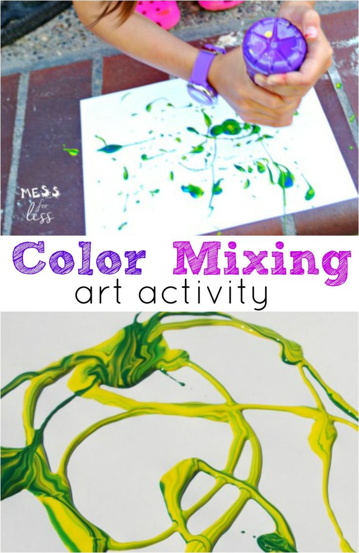 Looking for some fun activities for children this summer? Try this color mixing art activity and have your own outdoor adventure. #ad #FruitShoot #MadeForAdventures @fruit