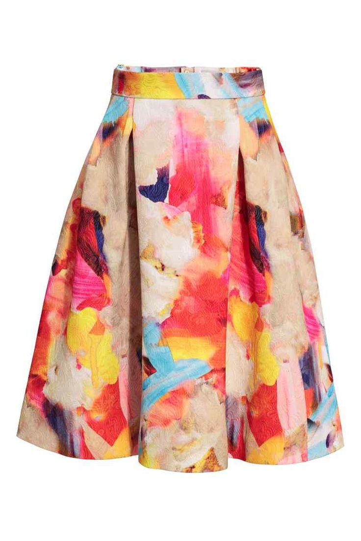 Falda con estampado   H&M