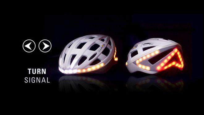 LED ışıklı akıllı bisiklet kaskı [Video]